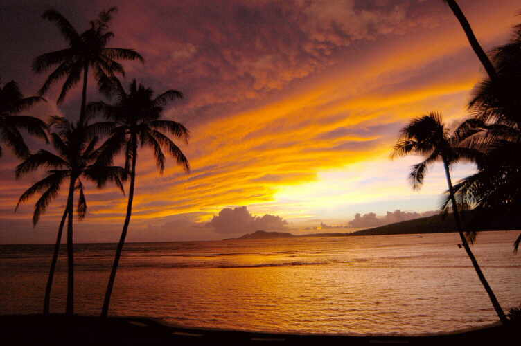 picture of Hawaii sunset
