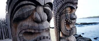 picture of tiki statues